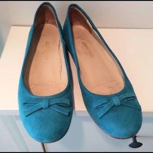 Shoes - Gianni Fiodi ITALIAN BLUE SUEDE FLATS